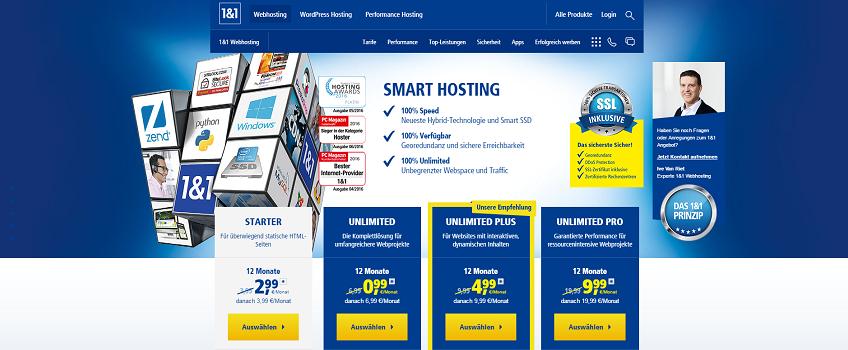 1und1 Webhosting